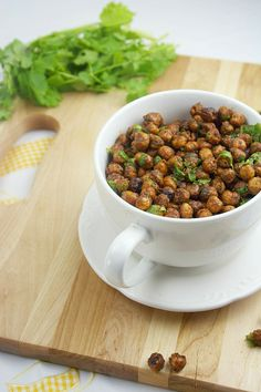 Roasted cilantro lime chick peas