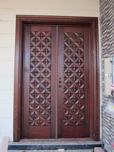Main Entrance Door Design, Wooden Front Door Design, Double Door Design, Main Gate Design, Wood Front Doors, Modern Wooden Doors, Art Deco Door, Door Design Interior, Interior Doors