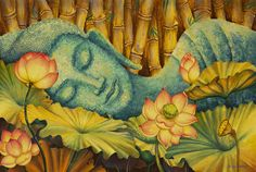 Reclining Buddha Painting - Reclining Buddha Fine Art Print