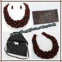 Products · Chocolate bead necklace & clutch set · Ashas Jewelrybox's Store Admin