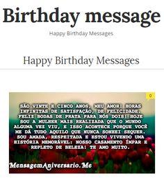 Mensagem de aniversário: as mais belas mensagens para desejar feliz aniversário. Frases e mensagens de aniversário e parabéns para uma bonita aniversário. https://mensagemaniversario.me/