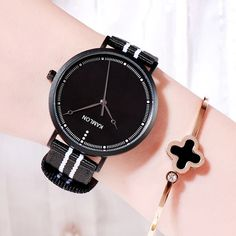 Fashion Women Wristwatch Minimalist Dial Canvas Stripe Strap Ladies Casual Quartz Watch Female Elegant Dress Clocks Montre femme Outfit Accessories From Touchy Style. Cheap Watches, Stylish Watches, Casual Watches, Quartz Watch, Clocks, Fashion Women, Casual Jeans, Minimalist, Female