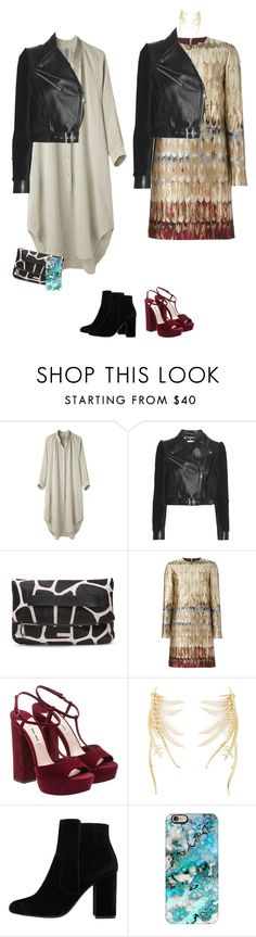 """""""Outfit"""" by audrey-balt ❤ liked on Polyvore featuring Raquel Allegra, Alexander McQueen, Donald J Pliner, Valentino, Eddie Borgo, MANGO and Casetify"""
