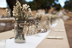 Yep! Center pieces locked down!  Photography: Sean Walker Photography - seanwalkerphotography.com Coordination: Couture Events - CoutureEventsSD.com  Read More: http://stylemepretty.com/2011/10/31/socal-ranch-wedding-by-couture-events-sean-walker-photography/