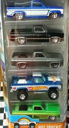 1:64 Hot Wheels Hot Trucks 5-Pack