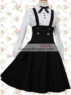Looking for a gorgeous lolita dress? Check out this White Long Sleeves Blouse And Black Classic Lolita Skirt with amazing price today! Cute Fashion, Skirt Fashion, Fashion Dresses, Rock Fashion, Fashion Fashion, Mode Lolita, Lolita Style, Mode Kawaii, Kawaii Clothes