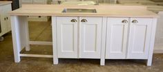The Swedish Style Sink Unit from Milestone Kitchens. Free Standing Kitchen Units, Kitchen Sink Units, Large Sideboard, Swedish Style, Solid Wood, Kitchen Design, Kitchens, The Unit, Furniture