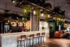 Renewed Ehta Kuopio designed by Visionary Design Partners Helsinki Bistro Design, Coffee Shop Design, Lounge Design, Cafe Design, Restaurant Exterior Design, Cafe Exterior, Rustic Restaurant Interior, Modern Restaurant Design, Bistro Interior
