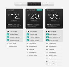 Since many web designer ask hosting web design so here is Strada Pricing Table PSD UI Web Element for free resource in a fully layered PSD, a complete p. Page Design, Web Design, Creative Design, Graphic Design, Table Template, Pricing Table, Presentation Layout, Ui Web, Free Photoshop