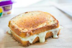 Chicken and Brie Grilled Cheese. @Fifteen Spatulas | Joanne Ozug just made your next favorite grilled cheese lunch.
