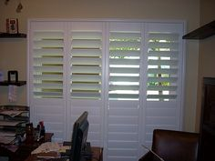 all Danmer window shutters are custom made to fit any type or shape of window. Danmer Shutters offers countless options in frames, colors and finishes - even custom-color matching. Custom Shutters, Interior, House, Wooden Blinds, Wood Windows, Home Decor, Window Coverings, Window Shades, Blinds For Windows