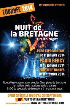 La nuit de la Bretagne. Le samedi 11 janvier 2014 à Morlaix.