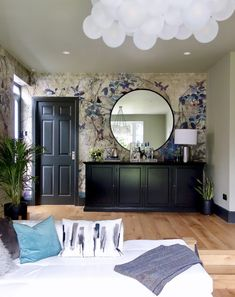Decor, Inspiration Wall, Interior, Wallpaper Living Room, Grey Walls, Wall, Feature Wall, Colorful Interiors, Making Space
