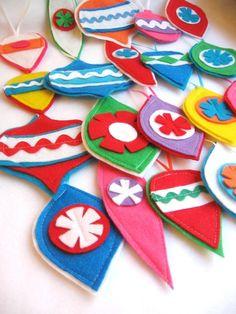 Cute felt ornaments!