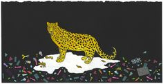 Leopard with Trash