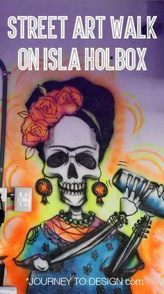 Street art walk on Isla Holbox Mexico – Amazing Street Art Mexico Art, Amazing Street Art, Visit Mexico, Art Walk, Street Signs, Art Studies, Mexico Travel, Street Artists, Tag Art