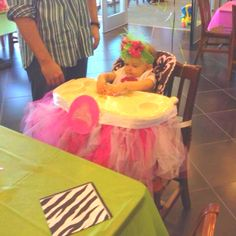 #princess #party Daughter's high hair tutu for her 1st birthday party!
