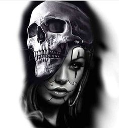 - You are in the right place about (notitle) Tattoo Design And Style Galleries On The Net – Are The - Tatto Skull, Skull Tattoo Design, Tattoo Sleeve Designs, Skull Art, Sleeve Tattoos, Cow Skull, Bad Tattoo, Girl Face Tattoo, Girl Face Drawing