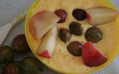 Mango Joghurt homemade Rezept gibt's hier http://vegfoodlove.de/2016/09/20/fruchtiger-morgenkick-mango-joghurt-mit-stachelbeere-bergpfirsich/