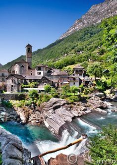 At Lavertezzo,Ticino,Switzerland.