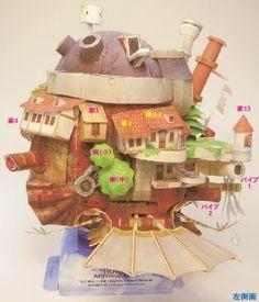 Howl´s moving castle printable model.
