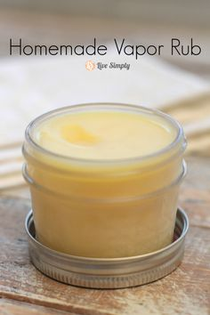 Homemade Vapor Rub - Live Simply