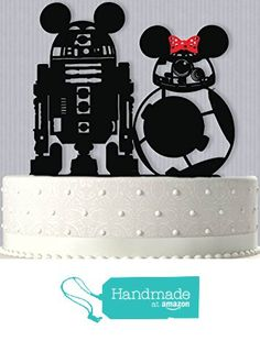 Star Wars Inspired R2D2 and BB-8 Mickey and Minnie Wedding Cake Topper from Bee3DGifts