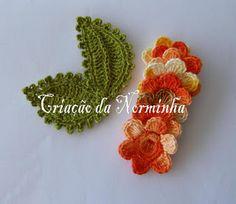Flor Matizada em Crochê - /  Tinted Flower Crochet - 1