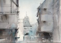 Dinan, France  #Paintings | #England | #ChrisRobinson #Watercolour #paintings