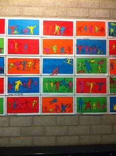 Tekenles in de stijl van Keith Haring. Zijn werk spreekt de kinderen erg aan. Op Google volop afbeeldingen van zijn werk te vinden. Bespreek kleurgebruik, vorm van figuren, bewegingstreepjes. Deze opdracht n.a.v. carnaval: dansende mensen.