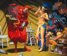Pavilion of the Red Clown by Robert Williams.
