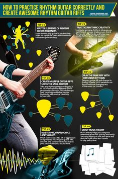 Best Way To Learn Piano Read this rhythm guitar playing lesson to learn the best ways to create awesome rhythm guitar riffs and become a tight rhythm guitar player. Music Theory Guitar, Guitar Songs, Guitar Chords, Guitar Scales, Guitar Strumming, Guitar Pedals, Acoustic Guitars, Basic Guitar Lessons, Piano Lessons