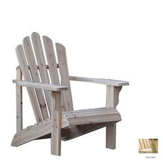 Shine Company Natural Adirondack Chair
