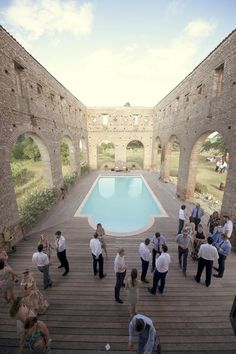 Stunning ruins wedding venue in South of France