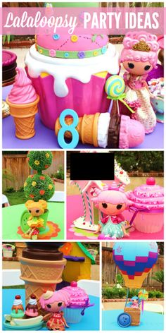This Lalaloopsy girl birthday party has completely adorable and colorful decorations and ideas!  See more party ideas at CatchMyParty.com!