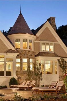 new construction luxury home inspired by French chateau style