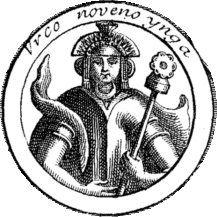 Medaglione con l'effigie di Urco Inca presunto Inca