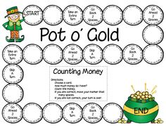 Here's a Pot of Gold - Money Counting Math Game from First Grade a la Carte