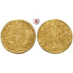Niederlande, Utrecht, Dukat 1596, ss: Dukat 1596. Stehender Ritter. Friedb. 284; GOLD, sehr schön, etwas wellig 200,00€ #coins #numismatics