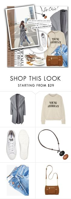"""Untitled #2199"" by deeyanago ❤ liked on Polyvore featuring ONLY, The Elder Statesman, Converse, MANGO, New Directions and coolcoat"