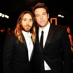 "#InstagramFlashback @JaredLeto , 21.01.14 :  ""Me + Ben Affleck at the #SAGawards """