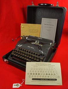 Vintage 1945 Smith Corona Portable Sterling Floating Shift Typewriter with Case & Manuals SN 4A104053 To see the Price and Detailed Description you can find this item in our Category Vintage Office on eBay: http://stores.ebay.com/tincanalley1/Vintage-Office-/_i.html?_fsub=19469219018  RD14821
