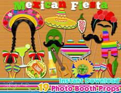Mexican Fiesta photo booth props