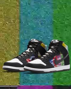 """This release might make you nostalgic - when high definition was still a thing of the future: The Nike SB Dunk High """"TV Signal"""" will be available exclusively for Premium Club FLOWs, AMs and PROs via Release Raffle. The raffle runs from 26.05.2021 - 16:00 to 27.05.2021 - 23:59 (CEST). Further information can be found on the release raffle page in our shop. Skate Shoe Brands, Skate Shoes, Nike Sb Dunks, Premium Club, New Skate, Shoe Releases, Girl Gamer, Converse, Vans"""