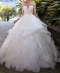 Fantastic Tulle Bateau Neckline Ball Gown Wedding Dress With Beaded Lace Appliques & from muttie dresses - Pink Wedding Dresses Making A Wedding Dress, Wedding Dress Trends, Colored Wedding Dresses, Princess Wedding Dresses, Dream Wedding Dresses, Stunning Wedding Dresses, Gown Wedding, Tulle Wedding, Ruffled Wedding Dresses