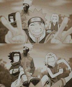Naruto, Sasuke, Kakashi and Sakura