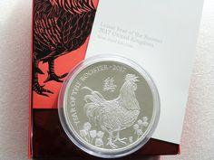 2017 British Lunar Rooster £500 Pound Silver Proof Kilo Coin Box Coa - Mintage 68