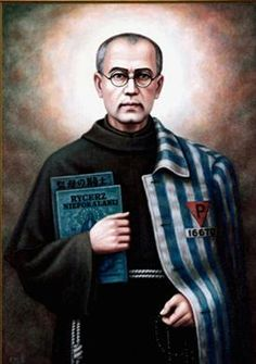 San Maximiliano Mª #Kolbe, fraile capuchino, asesinado en Auschwitz, el 14 de agosto de 1941