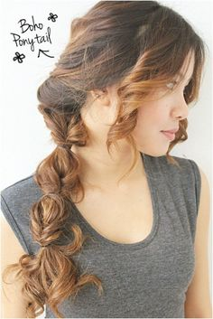 Boho Pony Tail Hair Style - Summer Hairstyles for Long Hair 2015