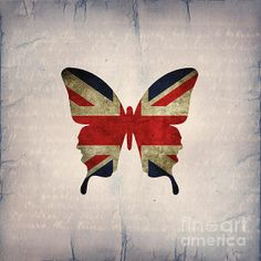 Butterfly collection: Union and Jack by Steffi Louis